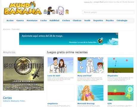 Mini Juegos Ojuegos en MundoBanana.com